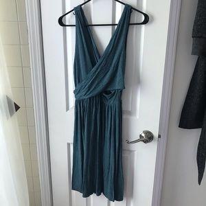 Loft wrap sleeveless dress